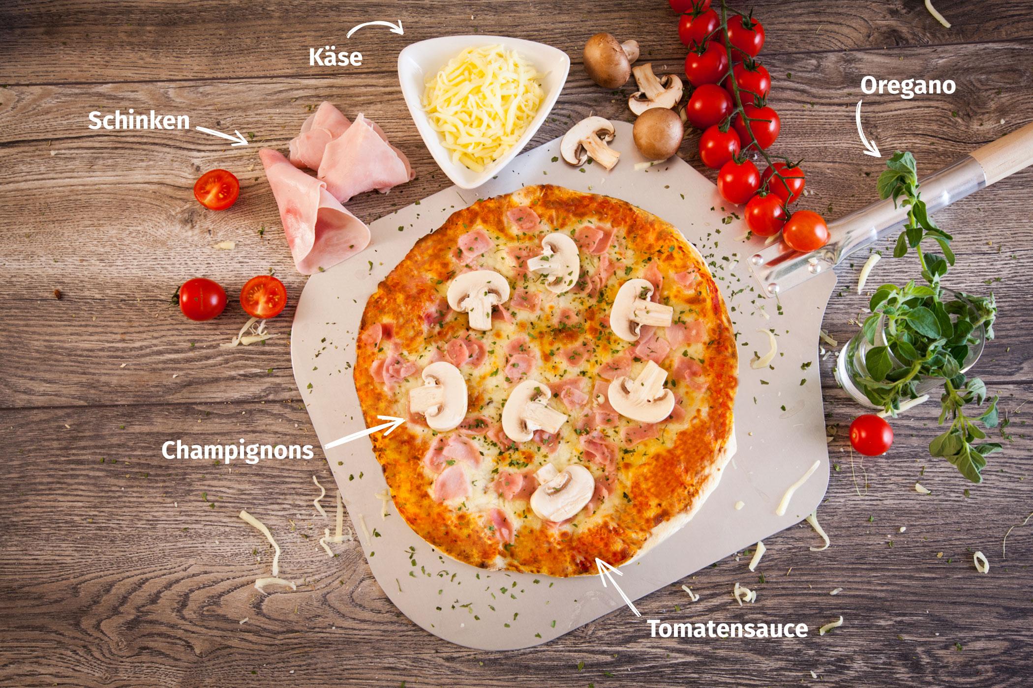 Original Franzesco Pizza Capricciosa mit Zutaten